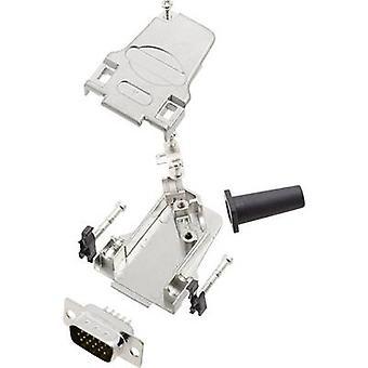 encitech D45ZF09-HDP15-K 6355-0064-01 D-SUB PIN Strip set 45 ° antal stift: 15 Lödskopa 1 set