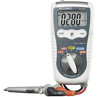 VOLTCRAFT VC-20 Handheld multimeter Digital Splashproof (IP54) CAT IV 600 V Display (counts): 4000