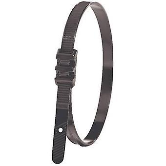 HellermannTyton 112-00011 LPH942 Kabelová kravata 180 mm 9 mm Černá plochá hlava, UV-důkaz 1 ks