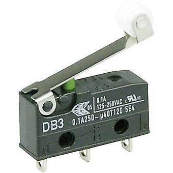 ZF Microswitch DB3C-A1RC 250 V AC 0.1 A 1 x On/(On) momentary 1 pc(s)