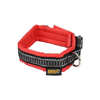 Classic Adjustable Nylon Padded Collar Red