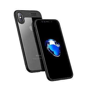 Stuff Certified® iPhone 8 Plus - Auto Focus Armor Case Cover Cas Silicone TPU Case Black