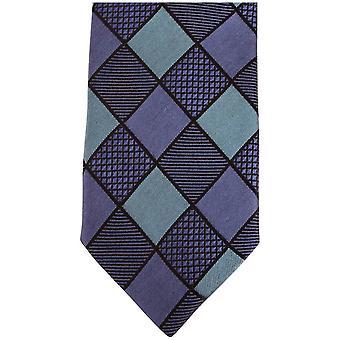 Gravatas de Knightsbridge diamante magro gravata de seda - azul