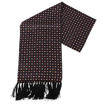 Cravatte di Knightsbridge Diamond Aviator seta sciarpa - nero