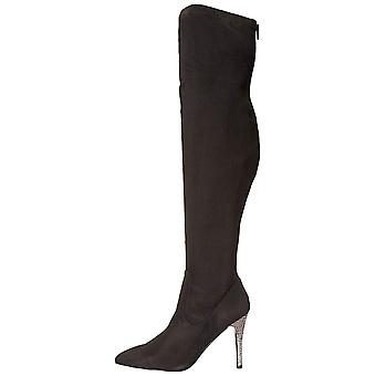 Nina Womens Rocklin-FY Fabric Pointed Toe Over Knee Fashion Boots