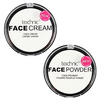 Technic White Face Powder & White Face Cream Paint Gothic Make up Set