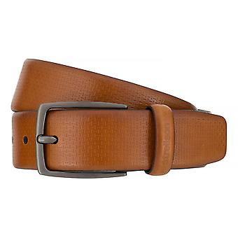 Strellson belts men's belts leather belt Cognac 7558