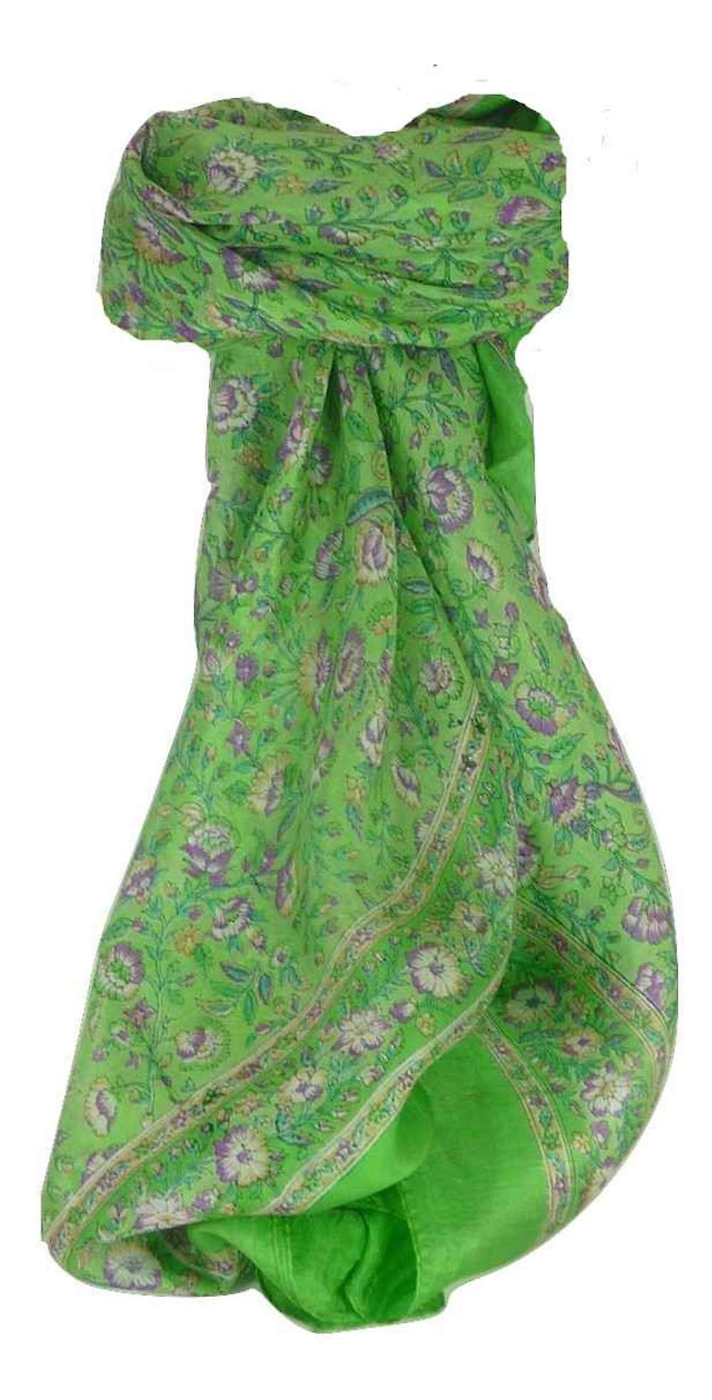 Mulberry Silk Traditional Square Scarf Imri Fern by Pashmina & Silk