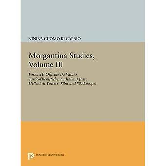 Morgantina estudos, Volume III: Fornaci E Officine Da Vasaio Tardo-Ellenistiche. (em Italiano) (Tarde helenística...