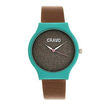 Crayo Glitter Unisex Watch - Teal/Brown
