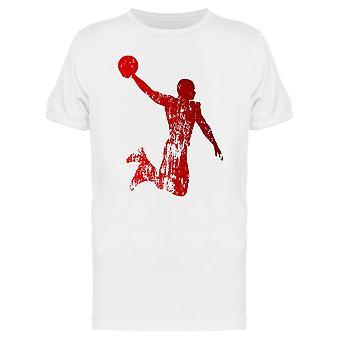 Шероховатый баскетбола игрок значок Tee мужчины-изображений Shutterstock