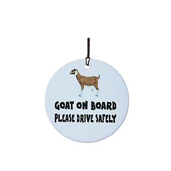 Goat On Board Car Air Freshener