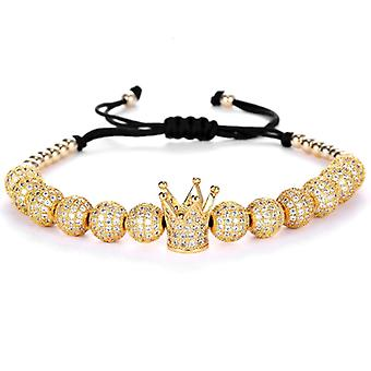 Bracelet-crown and gold-coloured beads