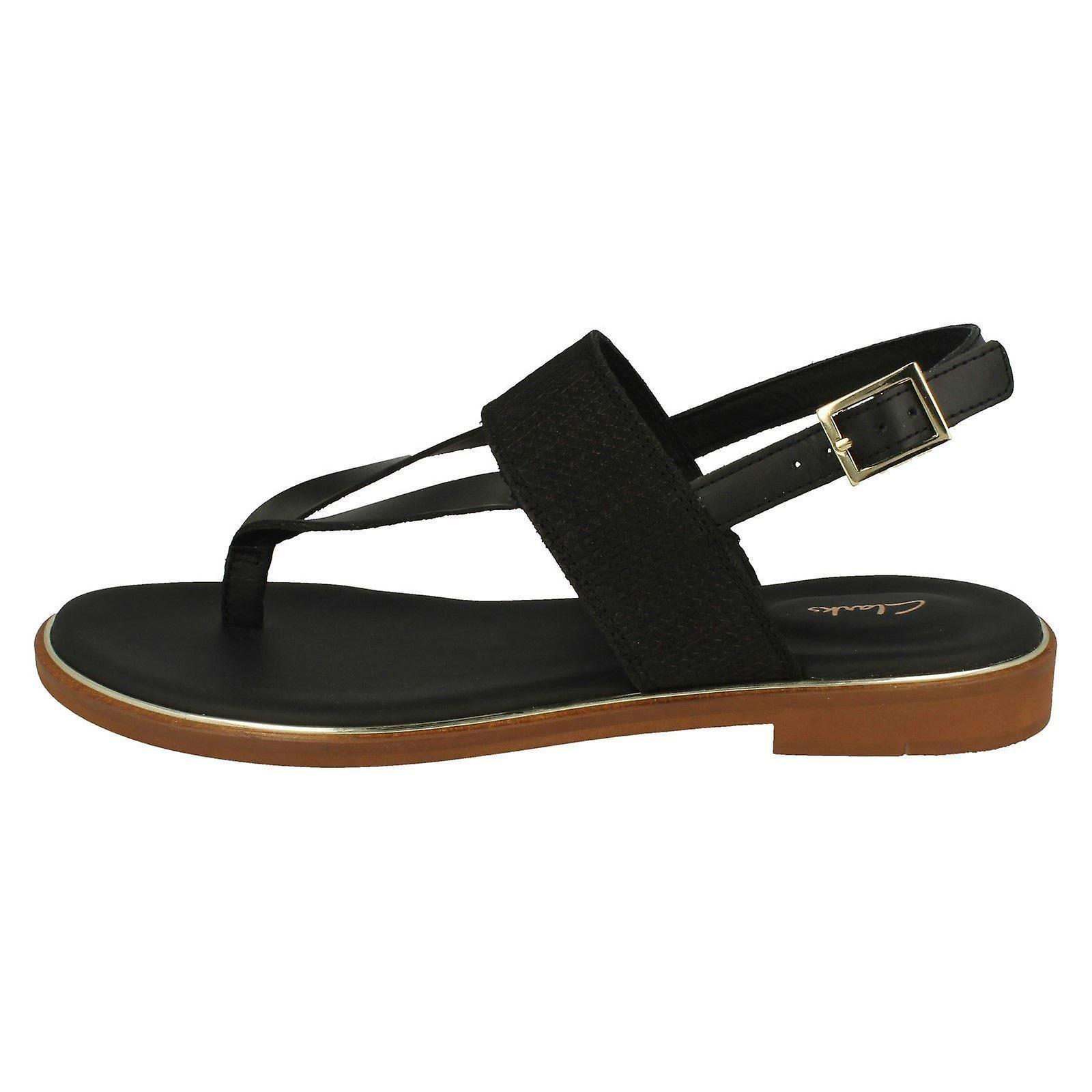 Ladies Clarks stilige tå innlegg sandaler Ellis Opal