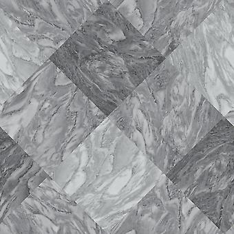 Rasch mármol azulejo efecto Wallpaper pizarra gris diamante moderno texturizado vinilo