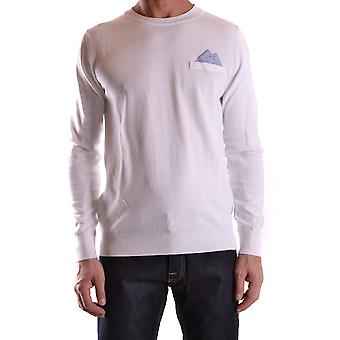 Frankie Morello Ezbc167049 Men-apos;s White Cotton Sweater