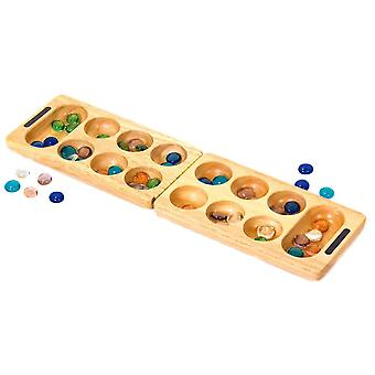 Traditional Wooden Mancala Game