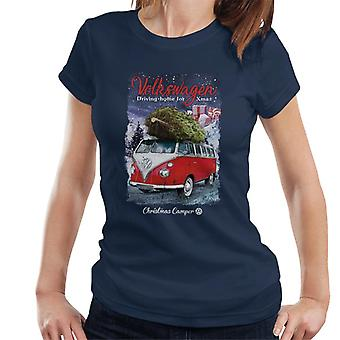 Volkswagen Christmas Camper Driving Home For Xmas Women's T-Shirt