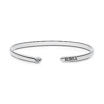 University of Mississippi graviert Sterling Silber Diamant Manschette Armband