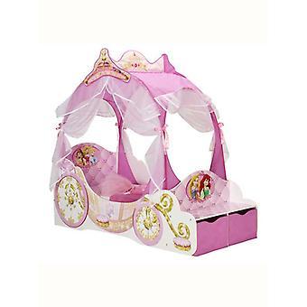 Disney Principessa Carrozza Bambino Letto con Stoccaggio