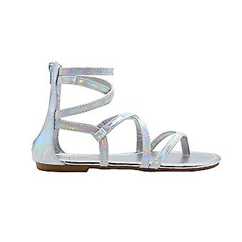 dELiAs dames Gladiator holografische Gladiator zomer flats
