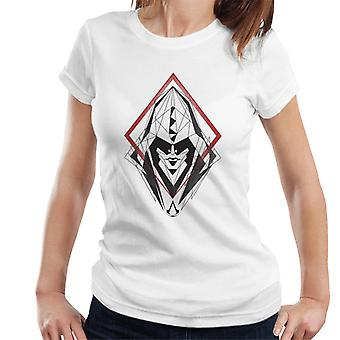 Assassins Creed Hood Line Drawing Silhouette Women's T-Shirt