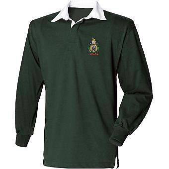 Kings Own Scottish Borderers Veteran - Licensed British Army Embroidered Long Sleeve Rugby Shirt