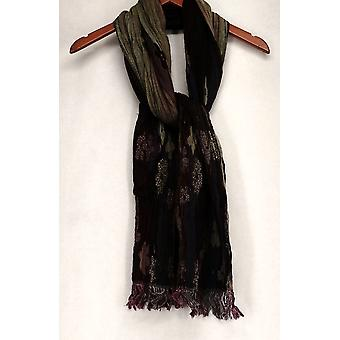Shop By Intuition by Jaye Hersh Pleated Reversible Purple Scarf A94018
