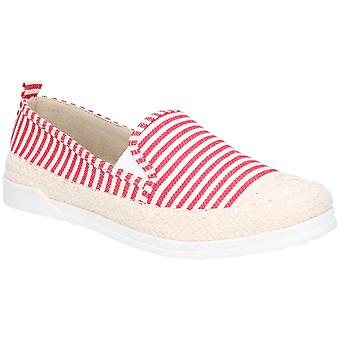 Fleet & Foster Womens Paradise Nautical Espadrille Loafer Red