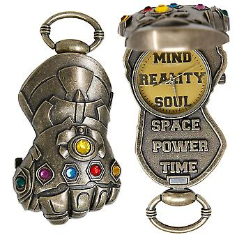 Avengers Endgame Película Thanos Gauntlet Pocket Watch