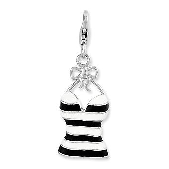 925 Sterling Silver Fancy Lobster Closure Enameled 3 d Tank Top With Lobster Clasp Charm Pendant Necklace Jewelry Gifts