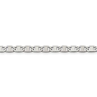 Edelstahl poliert 5,00 mm Anker Kette Armband - Länge: 7,5 bis 8,5