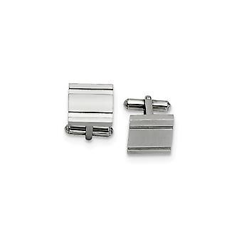 Stainless Steel Engravable Polished Cuff Links Jewelry Gifts for Men