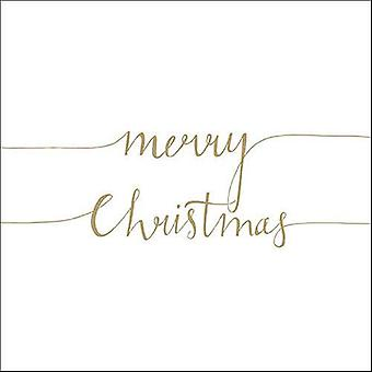 Ambiente 3 Ply Paper Napkins, Christmas Note Gold