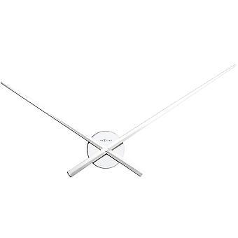 NeXtime - Horloge murale de 70 cm en aluminium - Blanc - Apos;Hands-apos;