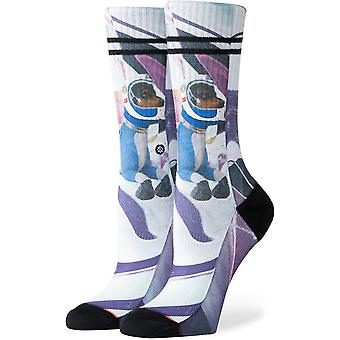 Stance Astrodog Crew Socks in Fuschia