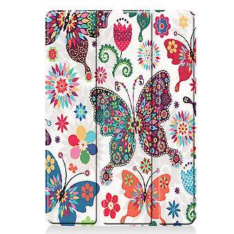 Apple iPad 10.2 2019 Slim fit tri-fold fodral - Butterfly