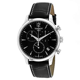 Tissot Men's Tradition Black Dial Watch - T0636171605700