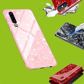 För Apple iPhone X 10 5,8/XS 5,8 2018 färg lyx effekt glas telefon täcka rosa fall case fall ny