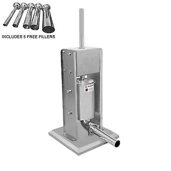 5L Sausage Stuffer Filler Maker Stainless Steel Commercial Meat Machine Vertical