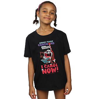 Looney Tunes Girls Taz I Carol Now T-Shirt