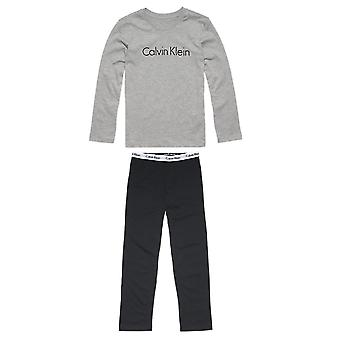 Calvin Klein Modern Cotton Boys Knit PJ Set, Grey / Black, Age 12-14