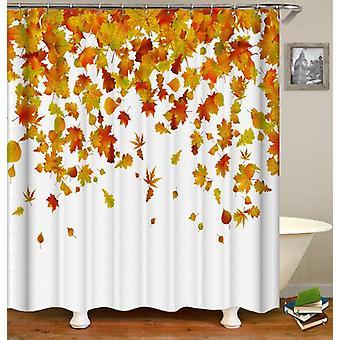 Rideau de douche de feuilles d'automne