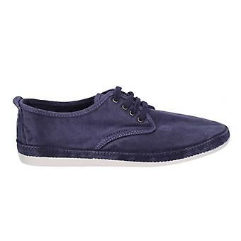 Flossy Raudo mens canvas Lace up Plimsolls Navy