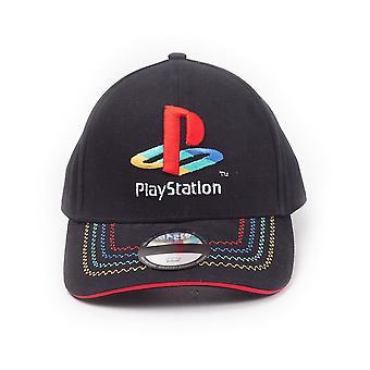 Sony PlayStation-retro logo justerbar cap unisex svart/rød (BA271584SNY)