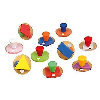 Vinco 10 Pieces Giant Geometric Stamp Toy (53438)