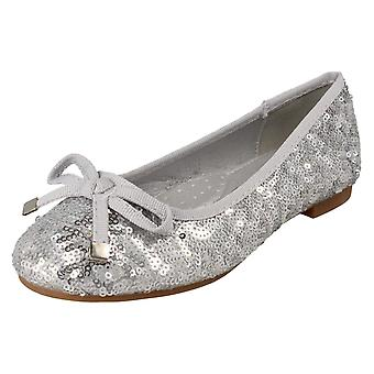 Girls Spot On Ballerina Shoes H2569