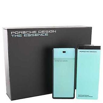 Essensen av Porsche Gift Set--2,7 oz Eau de Toilette spray + 6,8 oz dusj gel (menn) V728-464522