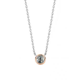 Ti Sento 3895GB Halskette - Silber Stein Synth. Transluzente blau grau Set gold rosa Frau