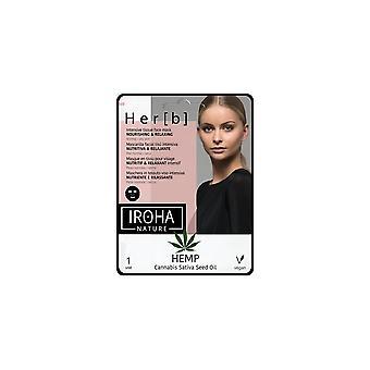 Iroha Cannabis Tessuto Faccia Maschera Nutriente & Rilassante Per le Donne